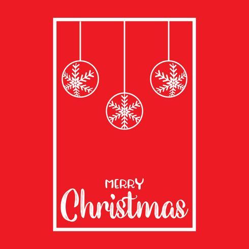 Fond de Noël avec des boules suspendues vecteur