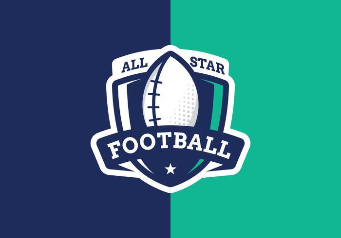 Logo All Star Football vecteur