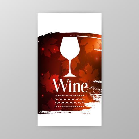 Bannière de promotion de verre à vin pour une dégustation de vin vecteur