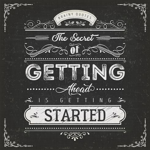 Affiche vintage de citation de motivation calligraphique vecteur