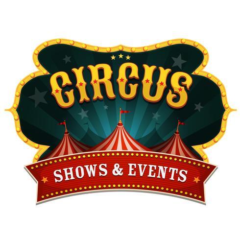 Bannière de cirque rétro vecteur