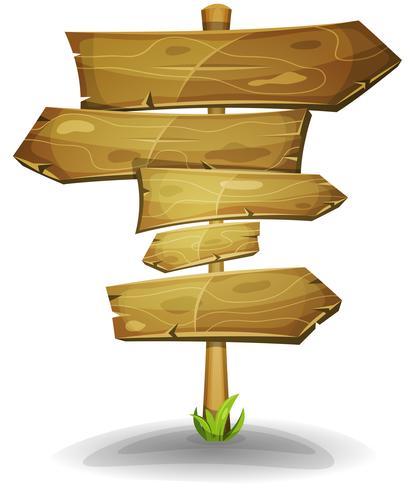 Flèches de signalisation en bois vecteur
