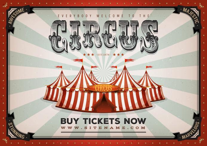Fond d'affiche de cirque vintage vecteur