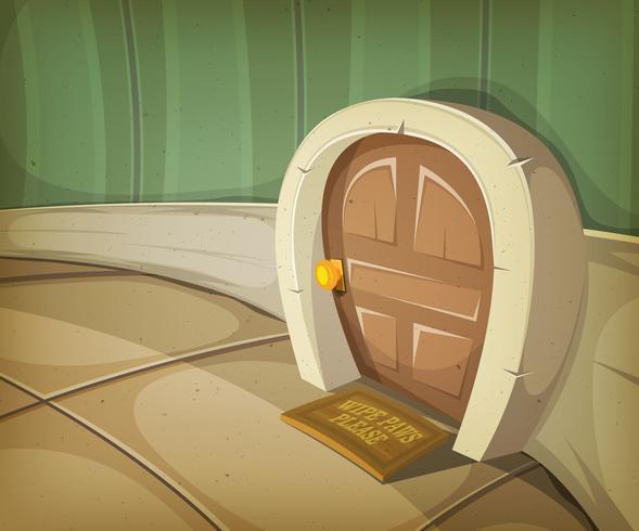 maison de la souris à l'intérieur de la maison vecteur