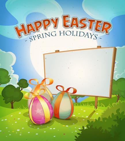 Printemps Et Vacances De Pâques vecteur