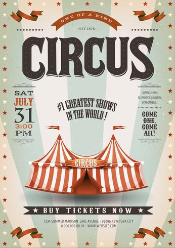 Fond de cirque rétro et grunge vecteur