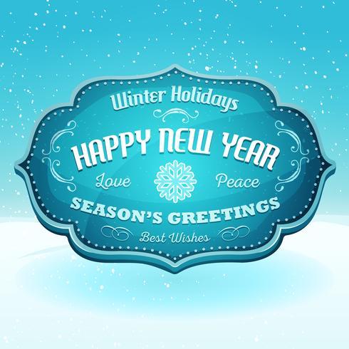 Bonne année et bannière de salutations de la saison vecteur