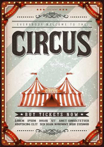Affiche Vintage Circus Design vecteur