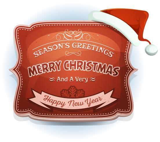 Insigne de bonne année et salutations de la saison vecteur