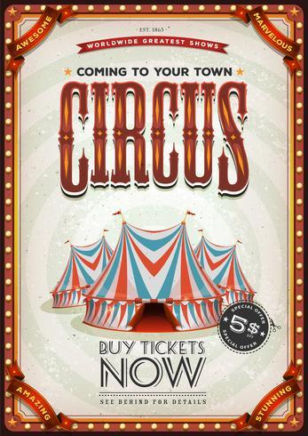 Affiche Vintage Vieux Cirque vecteur