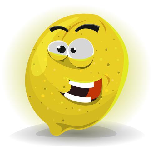 Caractère de fruit de citron vecteur