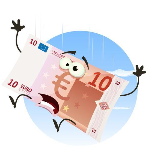caractère de facture euro en baisse vecteur