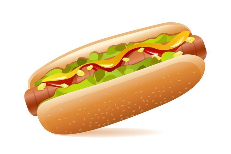 Hot-dog vecteur