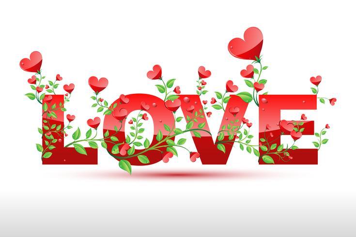 plante d'amour vecteur