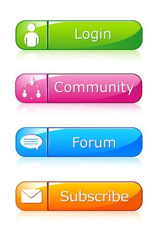 Ensemble d'icône Web vecteur