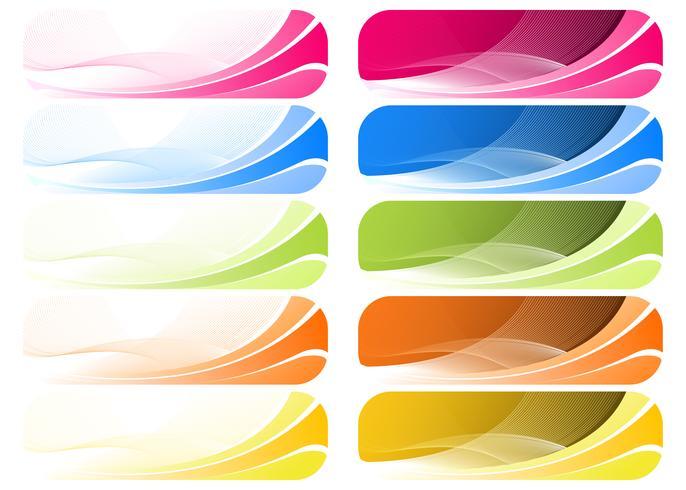 Fond Wavey coloré vecteur