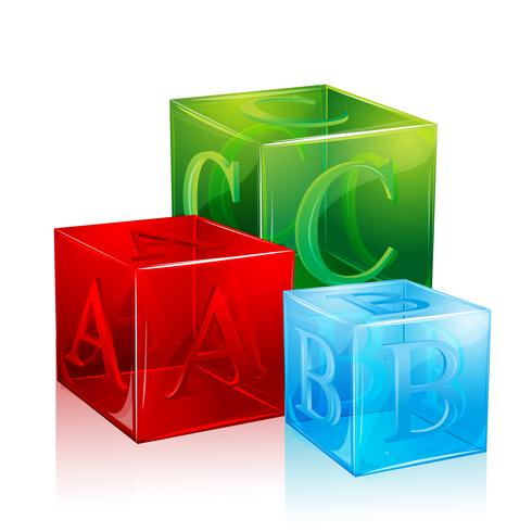 Alphabet Blocs vecteur