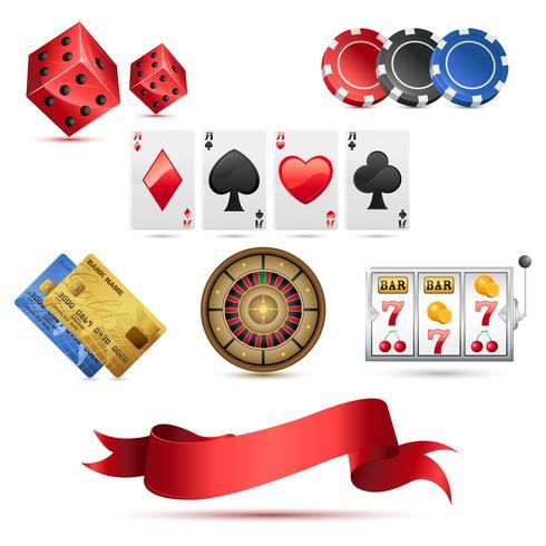 Icônes De Casino vecteur