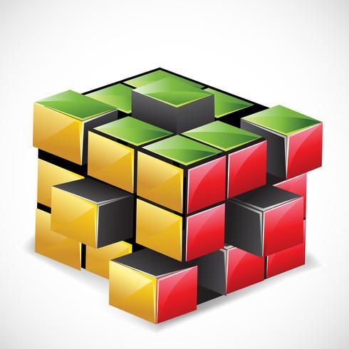 rubix cube vecteur