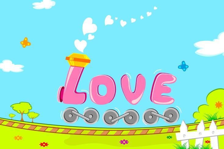 Train d'amour vecteur