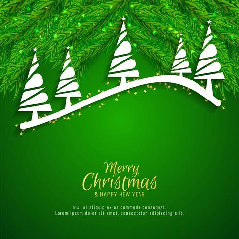 Fond de célébration joyeux Noël décoratif vecteur