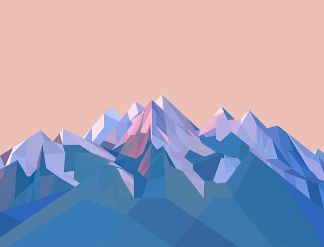 Montagnes polygonales vecteur