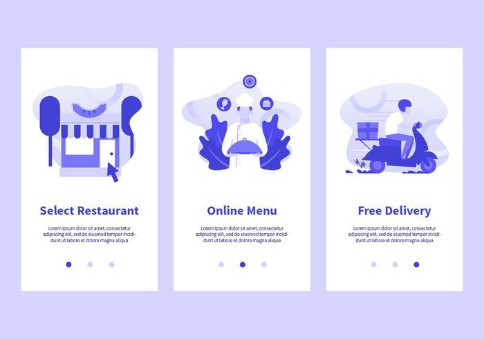 Commande en ligne d'aliments mobiles Vector Apps