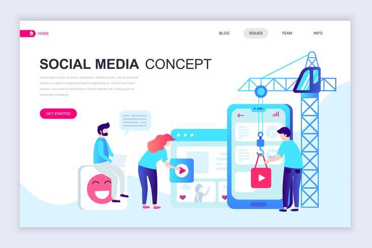 Bannière Web sur les médias sociaux vecteur
