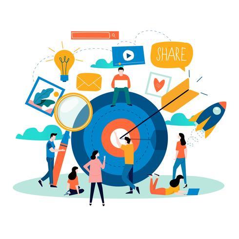Médias sociaux, réseaux sociaux vecteur