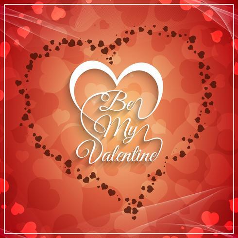 Abstrait Happy Valentine's Day beau fond vecteur