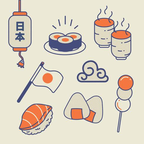 Pack de vecteur de nourriture japonaise