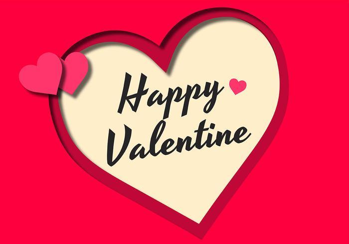 Cadre Saint Valentin vecteur
