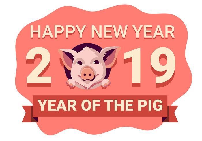 Cochon du Nouvel An Chinois vecteur