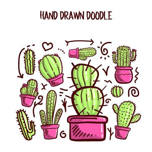 Vecteur, de, cactus, et, succulent vecteur