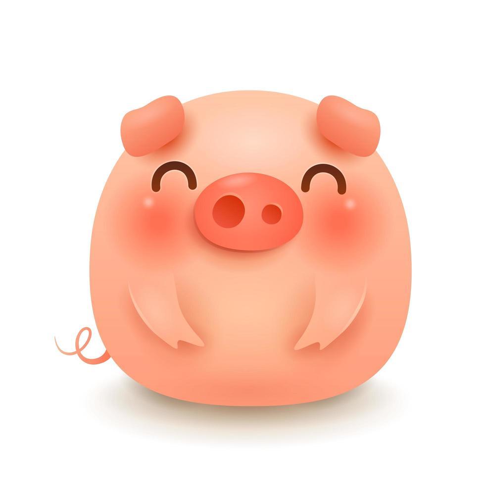 The Fat Little Pig vecteur