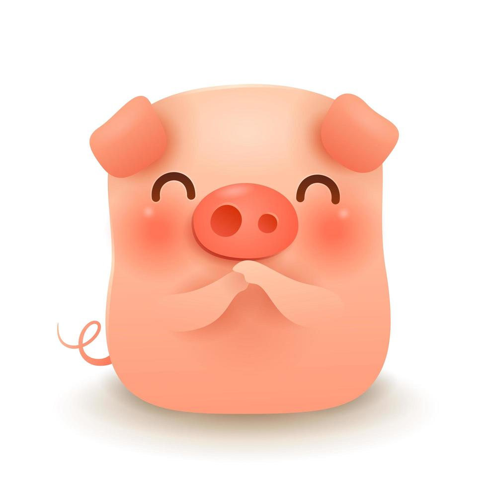 Little Pig greeting Gong Xi Gong Xi vecteur