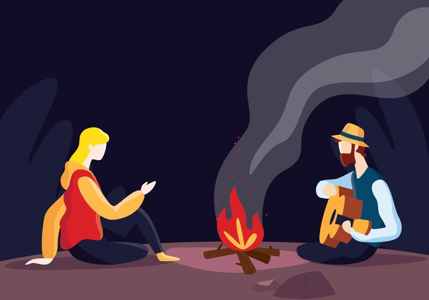 Couple Enjoy Night vecteur