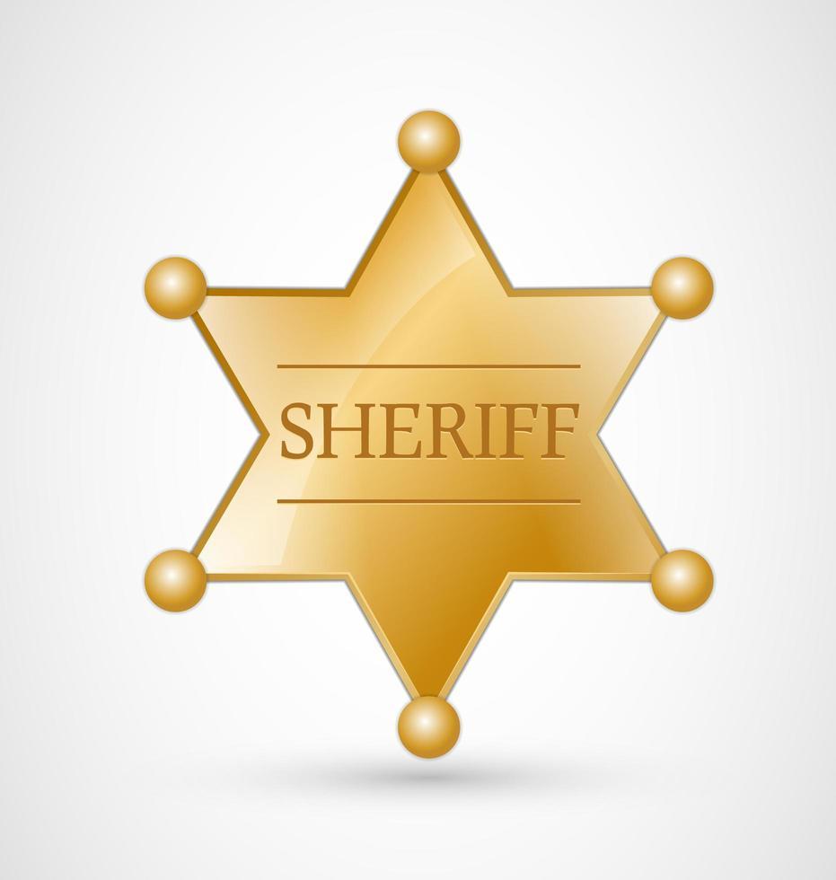 Gold Sheriff Badge vecteur