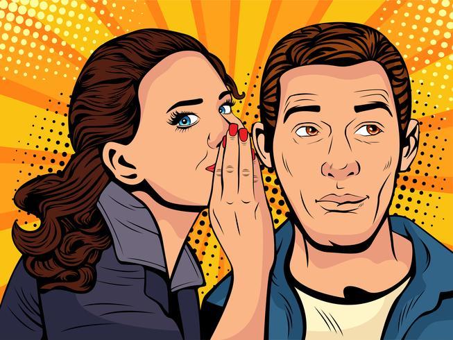 Gossip and Rumours Style Pop Art vecteur