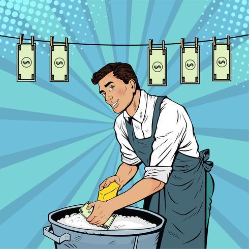 Concept d'entreprise de blanchiment d'argent vecteur