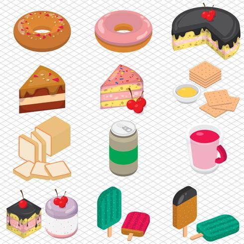 illustration du concept de dessert graphique info vecteur