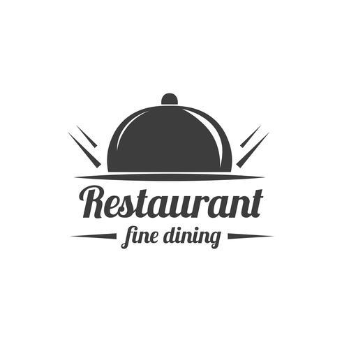 Étiquette de restaurant. Logo du service alimentaire. vecteur
