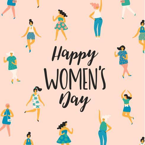 Journée internationale des femmes. Modèle de vecteur