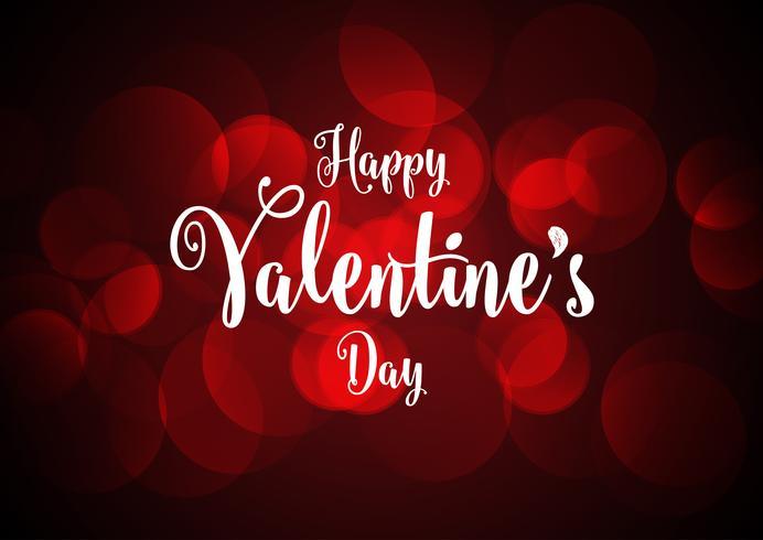 Fond de Saint Valentin avec des lumières de bokeh vecteur