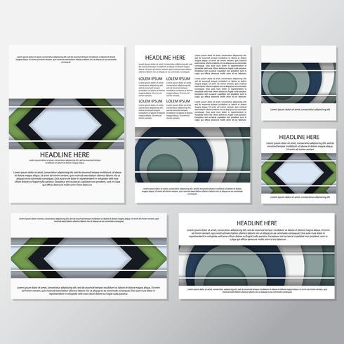 modèle de conception d'arrière-plan de flyer style fond frais vecteur