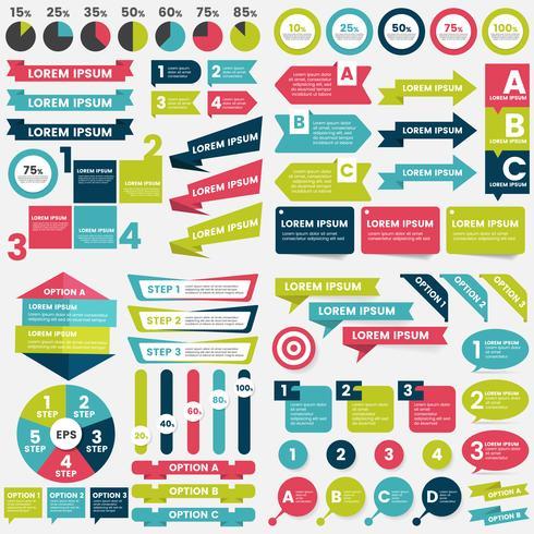 Modèle de conception infographie vecteur