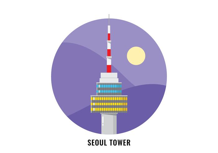 Tour de Séoul vecteur