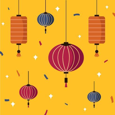 Taïwan Sky Lantern Festival Vector