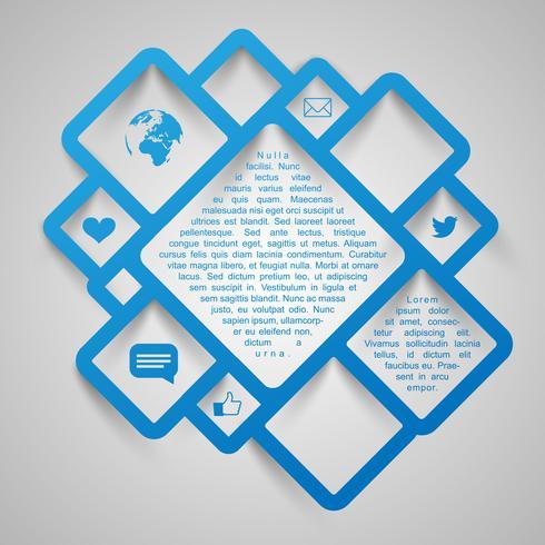 Carrés de vecteur de conception web abstraite