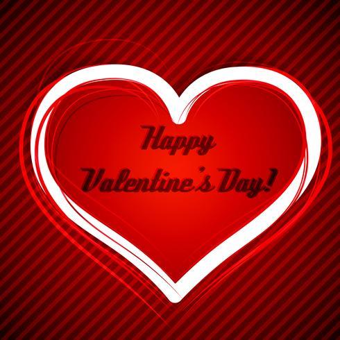 Illustration vectorielle de Saint Valentin coeur vecteur